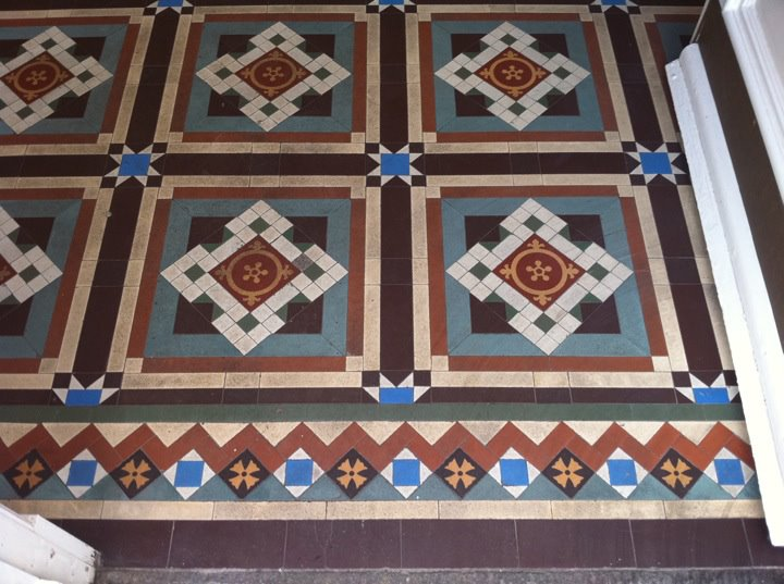 Victorian Tiles in Perth Before Cleaning and Sealing